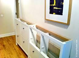 Slim Shoe Cabinet The Bespoke Ikea Hemnes Shoe Cabinet