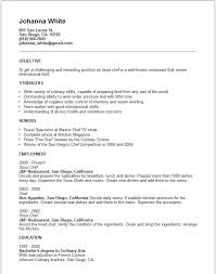 Career Coursework Asc Career Services Chef Resume Templates Free