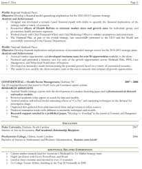 sample two page resumes