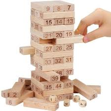 Games With Wooden Blocks Impressive Mayatra's 32 Pcs Blocks 32 Dices Wooden Jenga Tower Game At Rs 3299