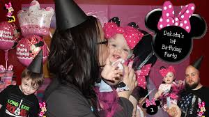 dakotas first birthday party minnie mouse vlog with tips ideas diy inspired you