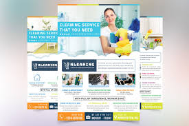 cleaning service flyer flyer templates on creative market