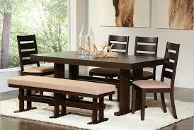 furniture dining room with kitchen table set with wooden bench and chair plus cushioned wear also