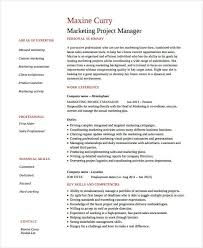 Marketing Resume Examples Extraordinary Marketing Resume Examples 28 Free Word PDF Documents Download