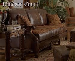creative of fabric leather sofa michael amini wood trim leatherfabric sofa opt1 windsor court