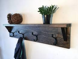 coat rack with shelf wood coat hooks