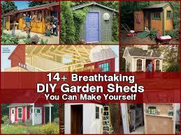 Diy Garden 14 Breathtaking Diy Garden Sheds You Can Make Yourself
