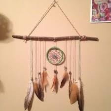 Tree Branch Dream Catcher Feather Wall Hanging Trees Feathers And Beads 77