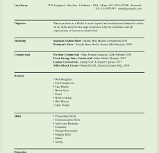 Modeling Resume Template Resume Model Template Eliolera Com Modeling Sample No Experience 79