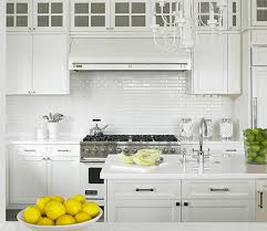 all white kitchen designs. Gorgeous Monochromatic Kitchen Design With White Shaker Cabinets \u0026 Island, Marble Countertops, Glossy Subway Tiles Backsplash, All Designs I