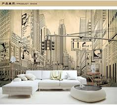 Europe Architecture Sketch City Landscape Building Wallpaper Mural Rolls  for Wall Covering Living Room Bedroom Cafe Shop Decor-in Wallpapers from  Home ...
