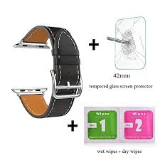 leather watch band single tour bracelet strap for apple watchiwatch series 1 series 2 42mm