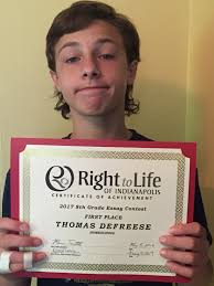 csh s right to life essay contest winner catholic schoolhouse