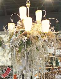 how to decorate a chandelier for champagne