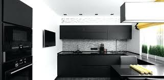 White And Black Kitchens Modern Kitchen With Black Appliances