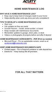 Home Maintenance Log Template Printable Download Free Premium