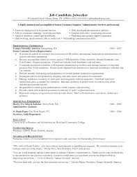 Cover Letter Resume Summary Examples Customer Service Customer