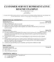 Resume Samples For Customer Service Representative Customer Service Template Resume Customer Service Representative