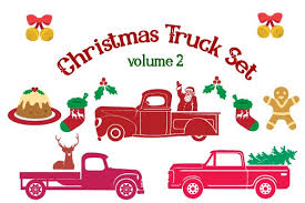 Once payment has cleared you will receive the download links via email, and the download links can also be found in your etsy. Christmas Truck Kit Volume 2 Create Your Own Truck Svg Cut File By Creative Fabrica Crafts Creative Fabrica