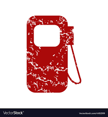 Gas Station Logo Red Grunge Gas Station Logo Royalty Free Vector Image