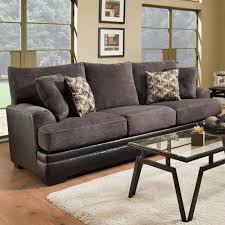 Albany 8640 Transitional Two Tone Sofa A1 Furniture & Mattress