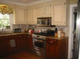 two tone kitchen cabinets beige