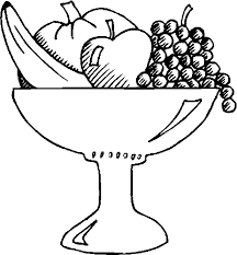 Fruit Bowl Coloring Pages - Get Coloring Pages
