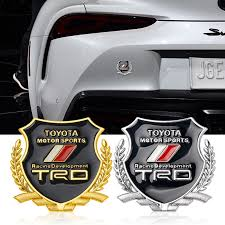 2pcs 3d metal car stickers modified side standard emblem badge styling for dodge demon hell decorative