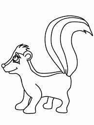 Small Picture Printzoom Skunk Coloring Pages Skunk Coloring Page Pregnant