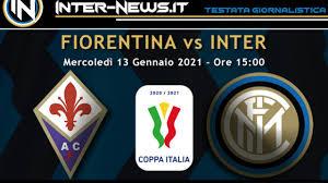 Fiorentina Inter (Coppa Italia): le probabili formazioni degli ottavi di  finale