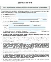 Sample Sublease Agreement Basic Sublease Agreement Andeshouse Co