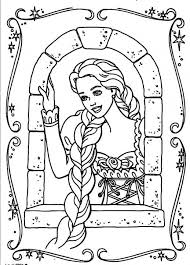 Small Picture Barbie Rapunzel Coloring Pages Free Printable Tangled Coloring