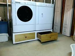 diy washer dryer pedestal with drawers. Perfect Pedestal Diy Washing Machine Pedestal Laundry Ideas Build  With Storage Drawer And Diy Washer Dryer Pedestal With Drawers A