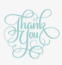 Word Thank You Thank You Blue Green Word Thank You English Blue Green Png And