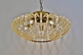 venini pendant light large size glass brass 1950 s italian in vintage chandeliers from roomscape