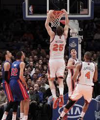 timofey mozgov dunk. Contemporary Dunk New York Knicks Timofey Mozgov Dunks In The First Half Against Detroit  Pistons At Madison Inside Dunk M