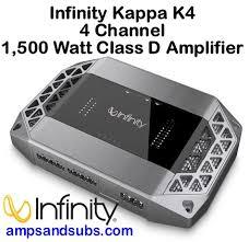 infinity amplifier. infinity kappa k4 4 channel car stereo power amplifier