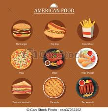 american food clipart. Simple Clipart Set Of American Food  Csp37287462 For American Food Clipart I