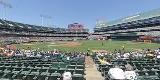 Ringcentral Coliseum Section 109 Oakland Athletics