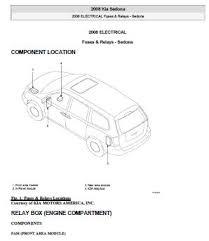kia repair service manuals 2008 kia sedona service repair manual