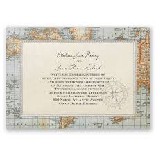 Antique World Map Invitation Invitations By Dawn