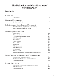 Pdf A Report The Definition And Classification Of Cerebral