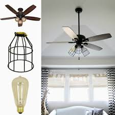 kitchen impressive ceiling fan with chandelier light kit 33 vintage enclosed caged nice ceiling fan with