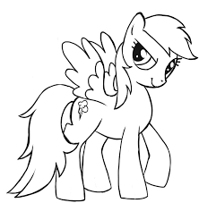 Small Picture Rainbow Dash My Little Pony Coloring Page My Little Pony