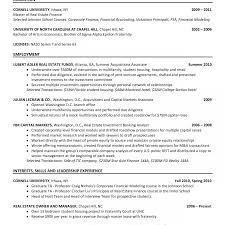 Investment Banking Resume Template Investment Banking Internme Example Best Template Internship 19