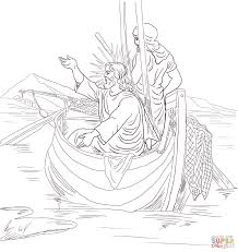 Small Picture Coloring Pages Boys Jesus Teaches From Boat Coloring Page Boat