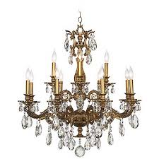 bronze and crystal chandelier. Milano 32 1/2\ Bronze And Crystal Chandelier T