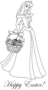Princess Coloring Pages Easter Theme Coloring