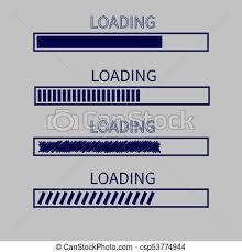 Download Timer Loading Progress Status Bar Icon Set Web Design App Download Timer White Background Flat Trendy Scribble Element Isolated