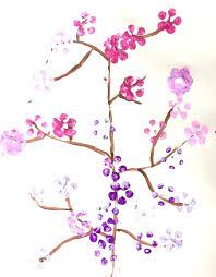 painting cherry blossoms cherry blossom painting final finger paint cherry blossom tree